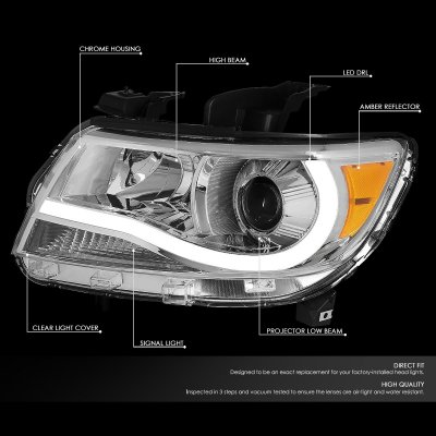 Chevy Colorado 2015-2020 Projector Headlights Tube DRL