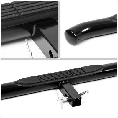 Dodge Ram 2009-2018 Receiver Hitch Step Bar Black Curved