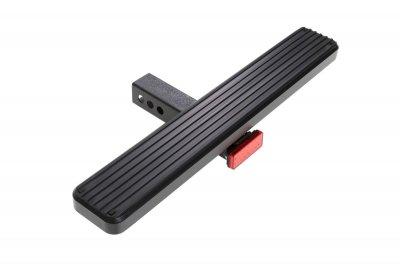 GMC Sierra 2007-2013 Receiver Hitch Step Brake Light Black Aluminum 26 Inch
