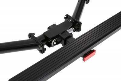 2018 Jeep Wrangler JL Receiver Hitch Step Brake Light Black Aluminum 36 Inch