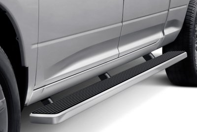 Chevy Silverado Extended Cab Long Bed 2007-2013 Wheel-to-Wheel iBoard Running Boards Aluminum 6 Inch