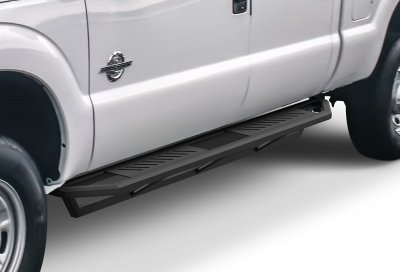 Ford F250 Super Duty Crew Cab 2008-2010 iArmor Side Step Running Boards Black Aluminum