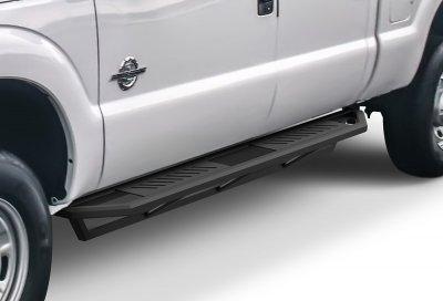 Ford F550 Super Duty Crew Cab 2011-2016 iArmor Side Step Running Boards Black Aluminum