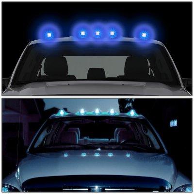 Dodge Ram 1999 2001 Black Blue Led Cab Lights