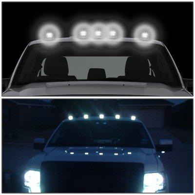 Dodge Ram 1999-2001 Black White LED Cab Lights