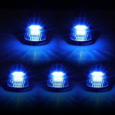 Ford F250 1980-1986 Black Blue LED Cab Lights