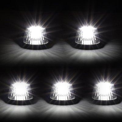 Ford F350 1992-1996 Black White LED Cab Lights