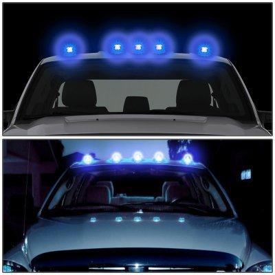 Ford F250 1980-1986 Clear Blue LED Cab Lights