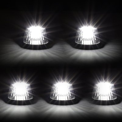 Ford F150 1992-1996 Clear White LED Cab Lights