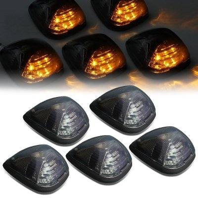 Ford F550 Super Duty 2008-2010 Tinted Yellow LED Cab Lights