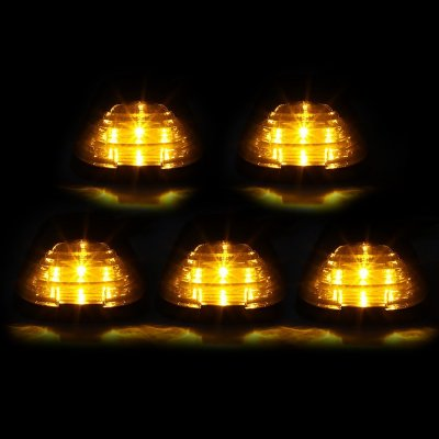 Ford F550 Super Duty 2011-2016 Tinted Yellow LED Cab Lights