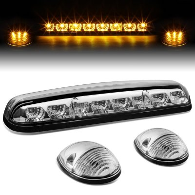 Chevy Silverado 2500HD 2002-2006 Clear Yellow LED Cab Lights