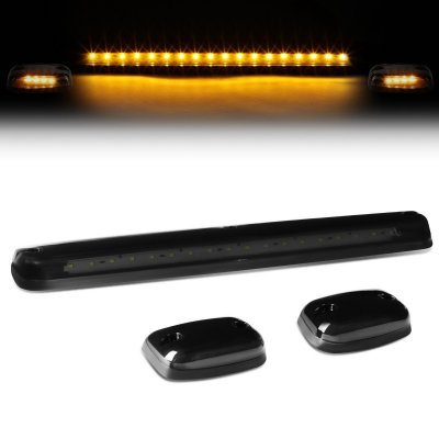GMC Sierra 2007-2013 Tinted Yellow LED Cab Lights