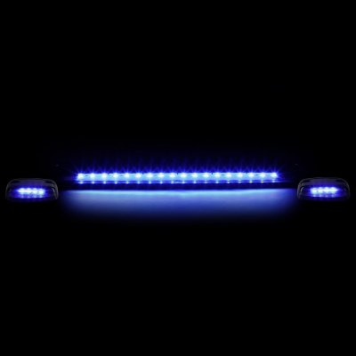 Chevy Silverado 2500HD 2007-2014 Black Blue LED Cab Lights