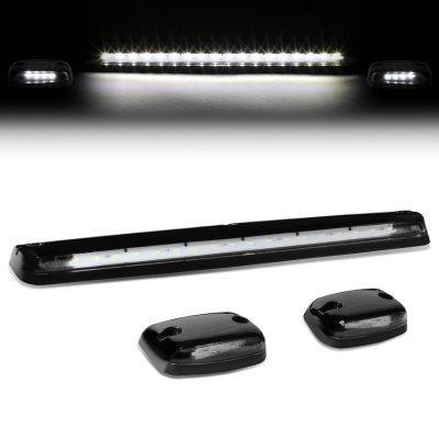 Chevy Silverado 2500HD 2007-2014 Black White LED Cab Lights