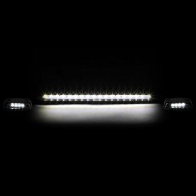 Chevy Silverado 2500HD 2007-2014 Clear White LED Cab Lights