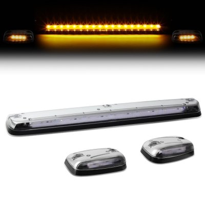 Chevy Silverado 2500HD 2007-2014 Clear Yellow LED Cab Lights