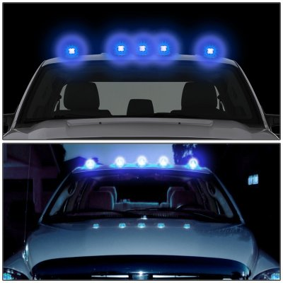 Chevy Suburban 1992-1999 Clear Blue LED Cab Lights
