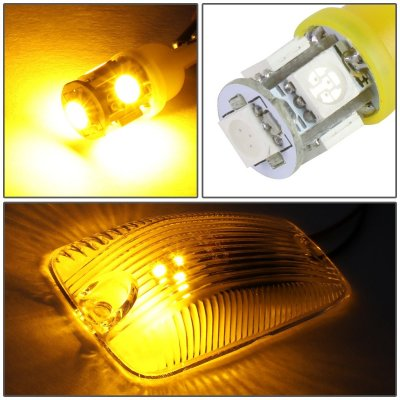 GMC Sierra 1988-1998 Clear Yellow LED Cab Lights