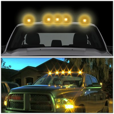 Chevy Silverado 1988-1998 Tinted Yellow LED Cab Lights