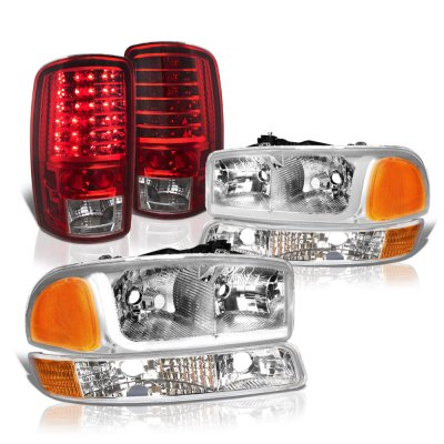 GMC Yukon 2000-2006 Tube DRL Headlights LED Tail Lights