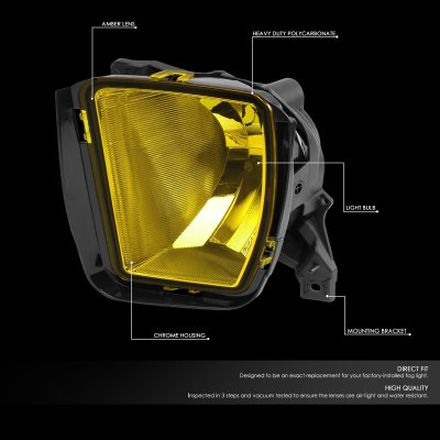 Dodge Ram 1500 2013-2018 Yellow Fog Lights Kit