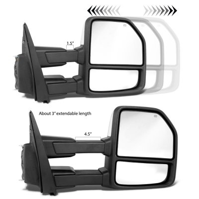 Ford F150 2015-2018 White Towing Mirrors Power Heated LED Signal Puddle Lights