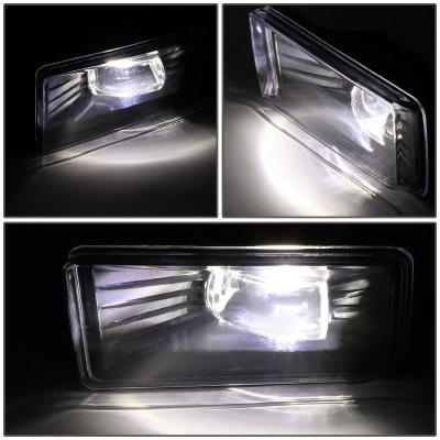 GMC Sierra 2007-2015 Clear LED Fog Lights