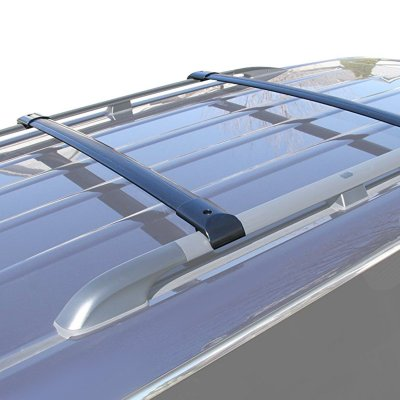 Honda Odyssey 2005-2010 Black Aluminum Roof Rack Crossbars