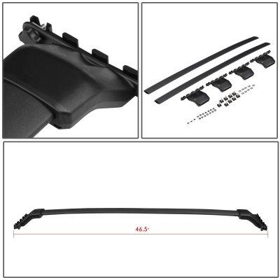 Honda Pilot 2009-2015 Black Aluminum Roof Rack Crossbars