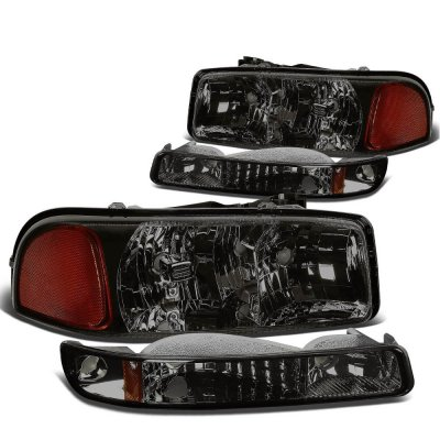 GMC Yukon 1999-2006 Smoked Headlights and Bumper Lights
