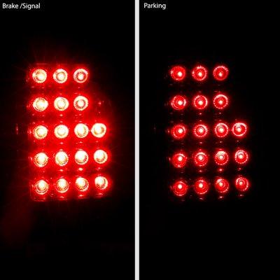 Chevy Silverado 1999-2002 LED Tail Lights Smoked