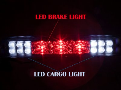 Ford F250 Super Duty 2011-2016 Clear LED Third Brake Light