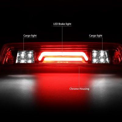 Dodge Ram 2500 2010-2018 Clear Tube Flash LED Third Brake Light