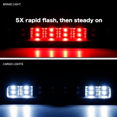 Dodge Ram 2500 1994-2002 Black Flash LED Third Brake Light