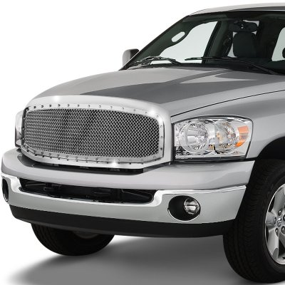 Dodge Ram 2006-2008 Chrome Rivet Mesh Grille