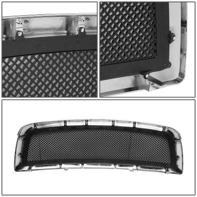 Dodge Ram 2009-2012 Black Mesh Grille Chrome Plate