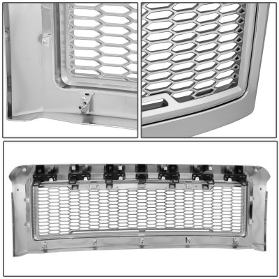 Used Ford Raptor >> Ford F350 Super Duty 2008-2010 Chrome Raptor Grille LED Lights | A135BOYL149 - TopGearAutosport