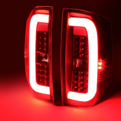 Toyota Tundra 2014-2020 Black Smoked C-Tube LED Tail Lights