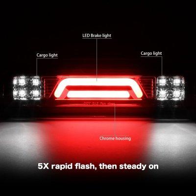 Dodge Ram 2500 2003-2009 Clear Tube Flash LED Third Brake Light