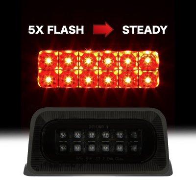 Chevy S10 Regular Cab 1994-2003 Black Smoked Flash LED Third Brake Light