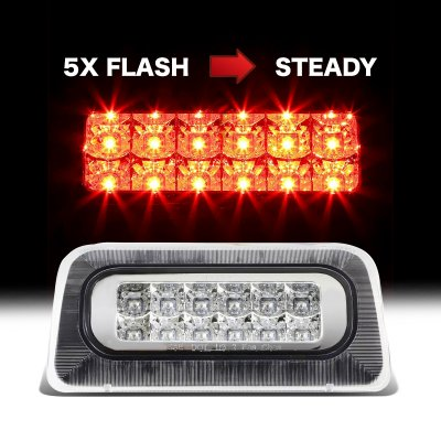 Chevy S10 Regular Cab 1994-2003 Clear Flash LED Third Brake Light