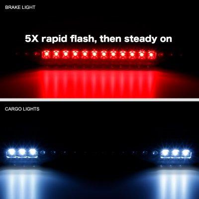 Chevy 1500 Pickup 1988-1998 Black Flash LED Third Brake Light