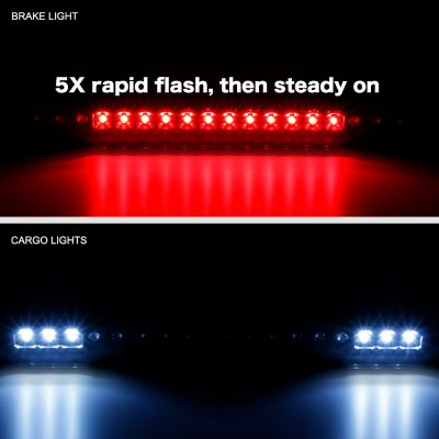GMC Sierra 1988-1998 Black Smoked Flash LED Third Brake Light