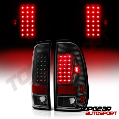 Ford F150 1997-2003 Black LED Tail Lights