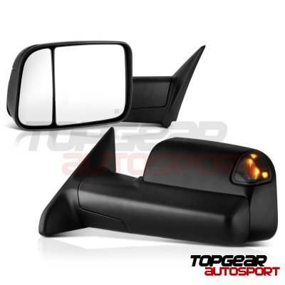 Dodge Ram 1500 2009-2018 Power Heated Towing Mirrors Smoked Signal Lights Temp Sensor