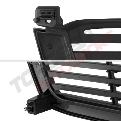 Chevy Silverado 3500 2003-2004 Black Front Grill and Clear Headlights