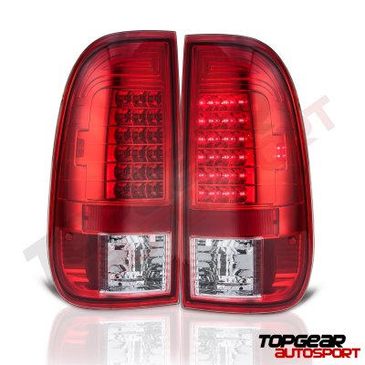 Ford F150 1997-2003 Black Headlights and Red LED Tail Lights