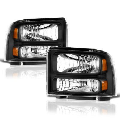 2005 Ford Excursion Black Headlights