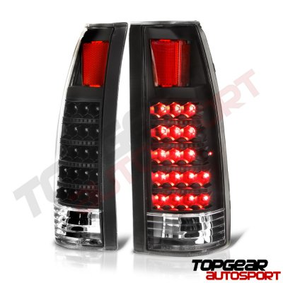 Chevy Silverado 1988-1998 LED Tail Lights Black